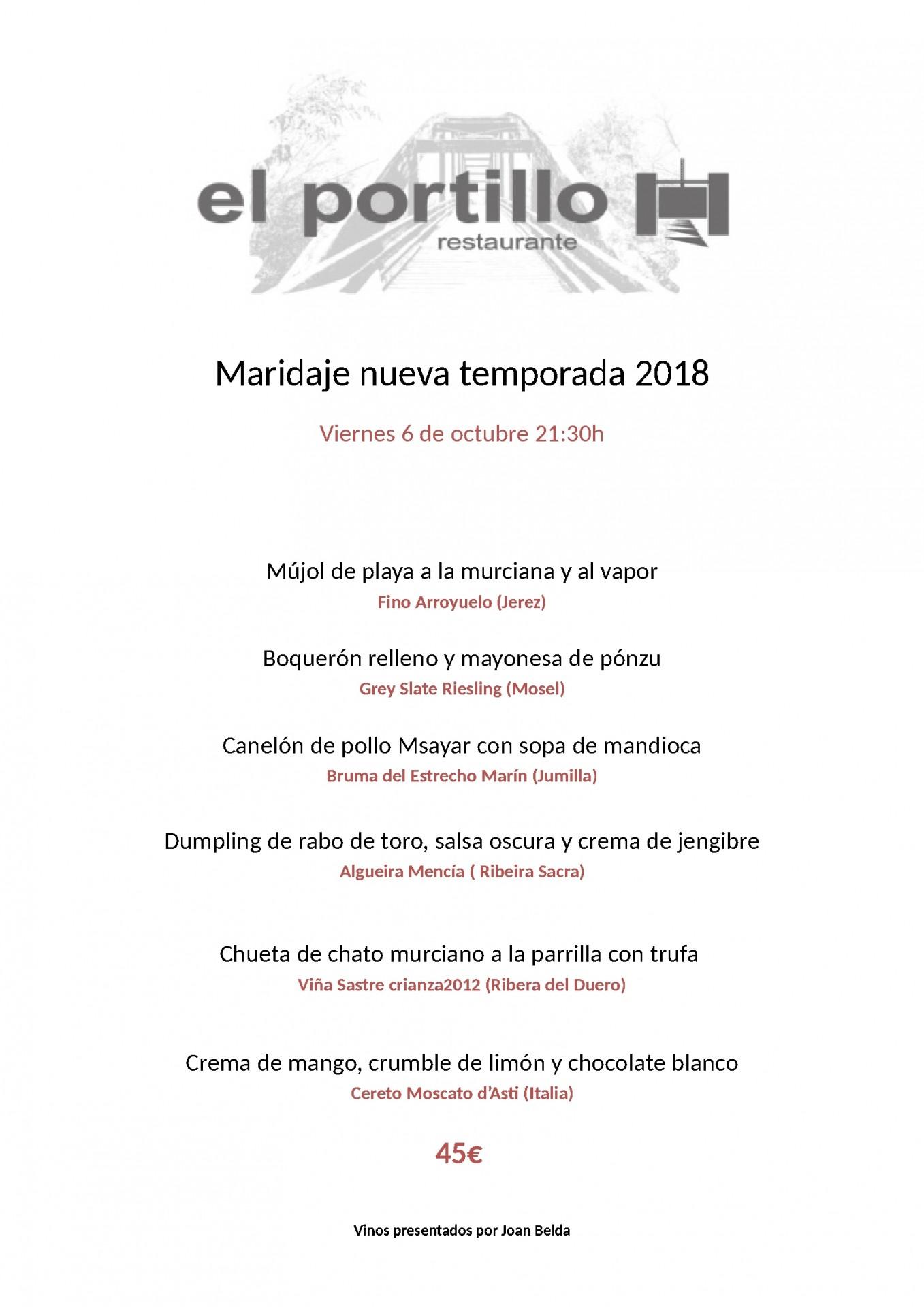 Maridaje_nueva_temporada_2018